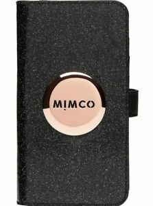 MIMCO FLIP CASE FOR IPHONE XS MAX - Black Sparkle - RRP $99.95 - 100% Genuine