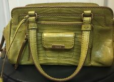 Authentic Tod's Green Exotic Allegator Crocodile Leather Bag Gold Hardware Small