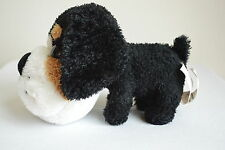 "Caltoy Big Head Plush Bulldog Puppy Dog Black Tan White 7"" Bermese Mountain"