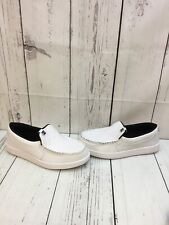 DC SHOE CO 'Villain' White Synthetic Leather Slip On Low Top Shoes Men's Size 10