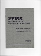 Zeiss      1935    brochure    prospekt