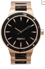 Mimco Brand New Time Peace $349 Rose Gold / Black Watch With Tags