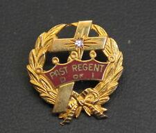 Vintage Past Regent  Daughters of Isabella (D of I)10K Gold Pin
