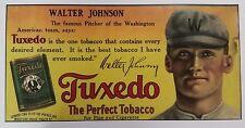 "Walter Johnson Tuxedo Trolley Ad (Reproduction) 11"" x 22"""