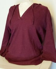 NEW Bass Pro Shops Natural Reflections Women's Hooded 3/4 Sleeve Henley Sz Large