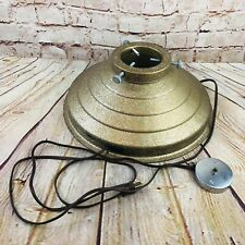 Vintage rotating Christmas tree stand gold glitter parts Mid century Modern