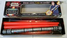 More details for 1998 rare lightsaber hasbro darth maul double-bladed - boxed