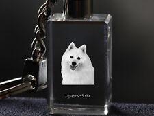 Japanese Spitz, Dog Crystal Keyring, Keychain, High Quality, Crystal Animals Usa