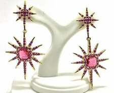 Authentic Lorenzo .925 Sterling Silver, 3.50ctw Ruby Earrings