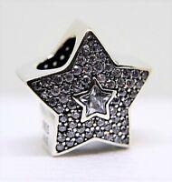 PANDORA Genuine Pave Wishing Star charm Sterling Silver S925 ALE 791384CZ