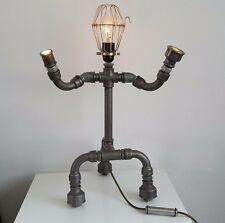 pipe art lamp . seam punk lamp. robot lamp,industrial table lamp.