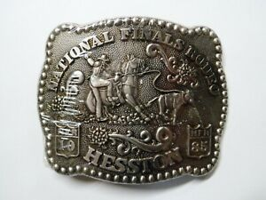 1985 Hesston National Finals Rodeo Fred Fellows Belt Buckle NFR