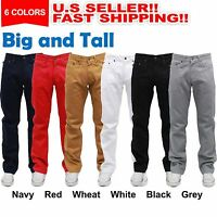 MEN BIG and TALL DENIM JEAN STRAIGHT FIT BLACK JEAN FIT PANTS