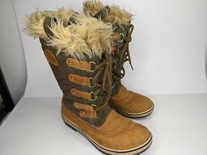 Sorel Tofino Tan Nubuck quilted Winter Boot Women Size 9