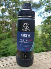 Takeya Actives 18 oz. Insulated Stainless Steel Water Bottle • color Slate