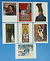 Set of 7 NEW Art Portraits Postcards BP Portrait Awards 2014-2015, Postcrossing