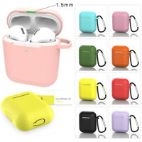 Protective Silicone Case & Carabiner Hook For Apple AirPods 1 2 Charging Case !