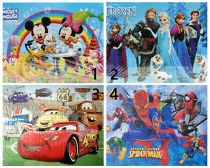 4 Puzzles Frozen Cars Mickey Mouse Spider-man Jigsaw Puzzle Best Gifts for Kids
