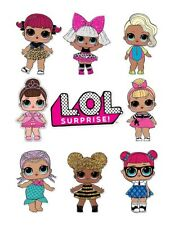 LOL Surprise Doll  Logo Edible Icing Cake Image Wrap Birthday Topper Decoration