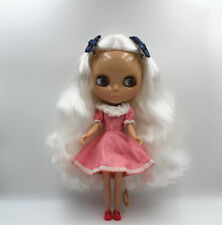 "12"" Takara Blythe Doll From factory Nude Doll pure white side hair sun tan skin"
