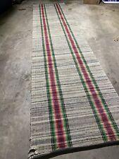 3x12 Handwoven Cotton/linen Runner