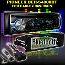 FOR HARLEY TOURING PIONEER DEH-S4000BT BLUETOOTH CD USB RADIO STEREO ADAPTER KIT