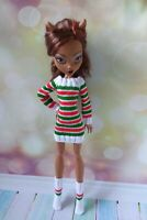 Christmas Monster High doll clothing Knit dress socks for 17 in Extra tall doll