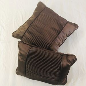 Decorative Brown Pillows Set of 2. Pre-owned.