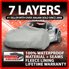 7 Layer Car Cover Indoor Outdoor Waterproof Breathable Layers Fleece Lining 3428