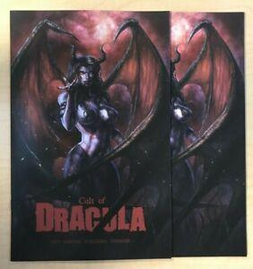 Cult of Dracula #1 Dress & Virgin Variant 2 Book Set by Alan Quah Second Sight