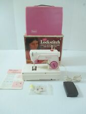 Vintage Sears Lockstitch Child'S Sewing Machine W/ Accessories & Box Made France
