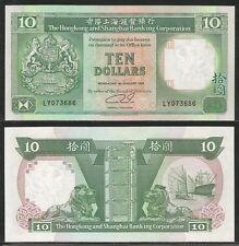 HONG KONG - 10 Dollars 1.1.1991 Pick 191c  UNC