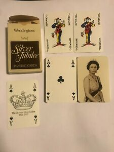Vintage Waddingtons Silber Jubilee Playing Cards Near Mint Condition 1977
