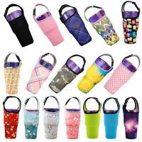 Water Bottle Beverage Cup Mug Cover for 30oz Glass Bag Holder Sleeve Pretty
