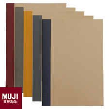 MUJI Planted Wood Paper Ruled Notebook 5pcs Pack A5 6mm Ruled New School Supply