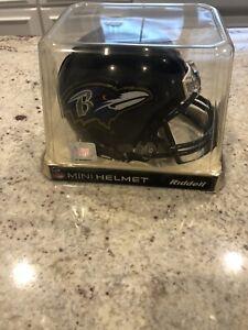 BALTIMORE RAVENS RIDDELL NFL FOOTBALL MINI HELMET NEW IN RIDDELL BOX 55039