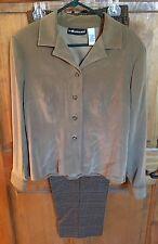 Sag Harbor Women's Size 12 Jacket And Plaid Pants Set