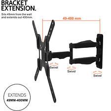 TV Wall Bracket Vesa Corner Mount Tilt Swivel for LCD LED OLED 26 32 42 50 55+
