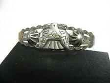 Vintage Native American Silver Stamper Thunderbird  Cuff Bracelet