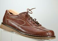 MENS SZ 9.5 M HUNTERS BAY BROWN LEATHER LACE UP SHOES  A687