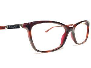 Versace MOD3186 5184 Womens Red Tortoise Cats Eye Rx Eyeglasses Frames 54/16~140