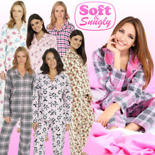 Ladies Fleece Pyjamas Ladies Long Sleeve Pyjamas Cotton Flannel Fleece Pajamas