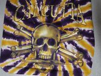 New CALCUTTA SHORT SLEEVE T SHIRT  PURPLE AND YELLOW TIE DYE LARGE