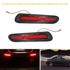 2xRed Lens LED 12V 1A Car Truck Rear Bumper Reflectors Taillight Brake Fog Light