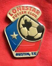 Badge Pin Austin Texas USA Lonestar Soccer Club Football Rare only 1 on ebay