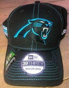 New Era 39Thirty North Carolina Panthers OnField Football Cap Sz Medium-Large