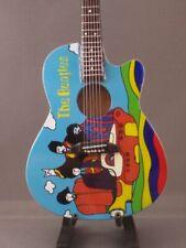 Mini Acoustic Guitar BEATLES YELLOW SUBMARINE Memorabilia FREE Stand Display