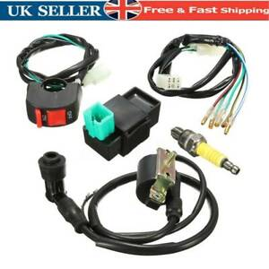 Wiring Harness Loom Switch Spark Race Coil CDI For 110cc 125cc 140cc Pit Bike .