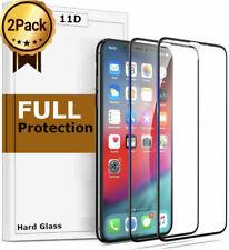 2x 11D Glas für iPhone 11 11 Pro X Xr Xs Max Panzerfolie Schutzfolie 9h Hartglas
