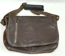 Pelle Studio Brown Leather Laptop Briefcase Carrying Tote Bag - Very Nice!